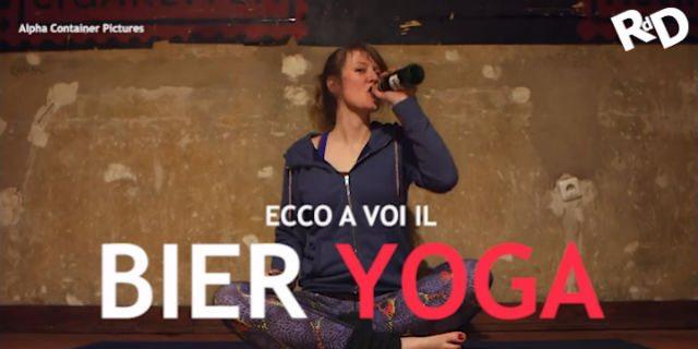 Fare yoga bevendo birra: ecco la Bier Yoga