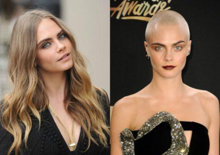 27 star prima e dopo essersi tagliate i capelli… A zero