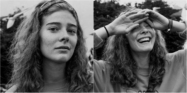 Una fotografa ha catturato l'espressione di queste persone prime e dopo averle baciate