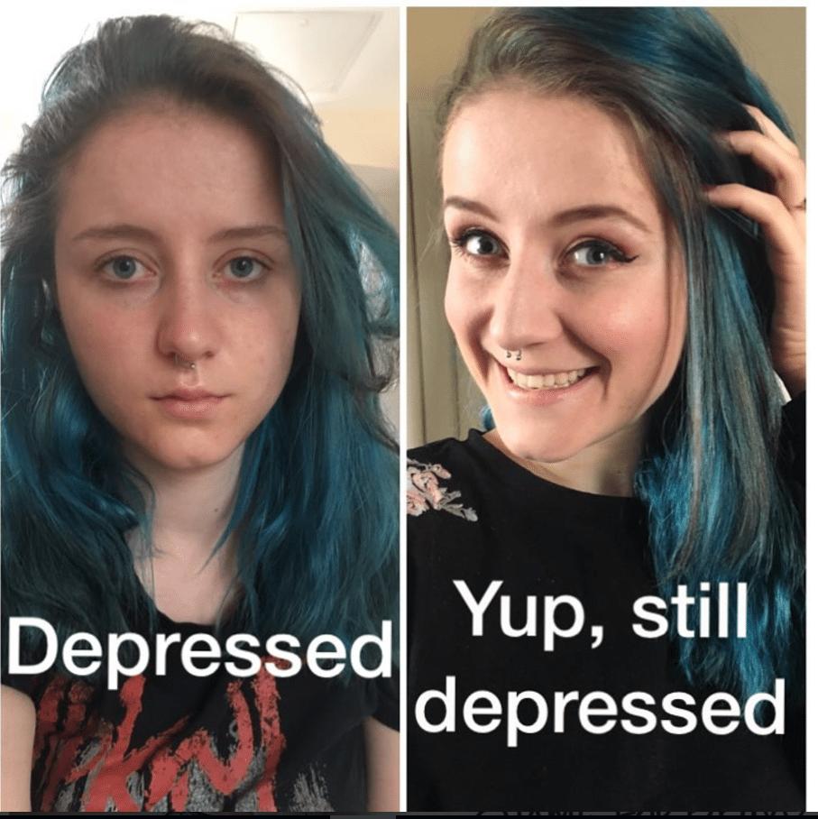 """""""Vi mostro la depressione: guadatela in faccia. Non ha un solo volto"""""""