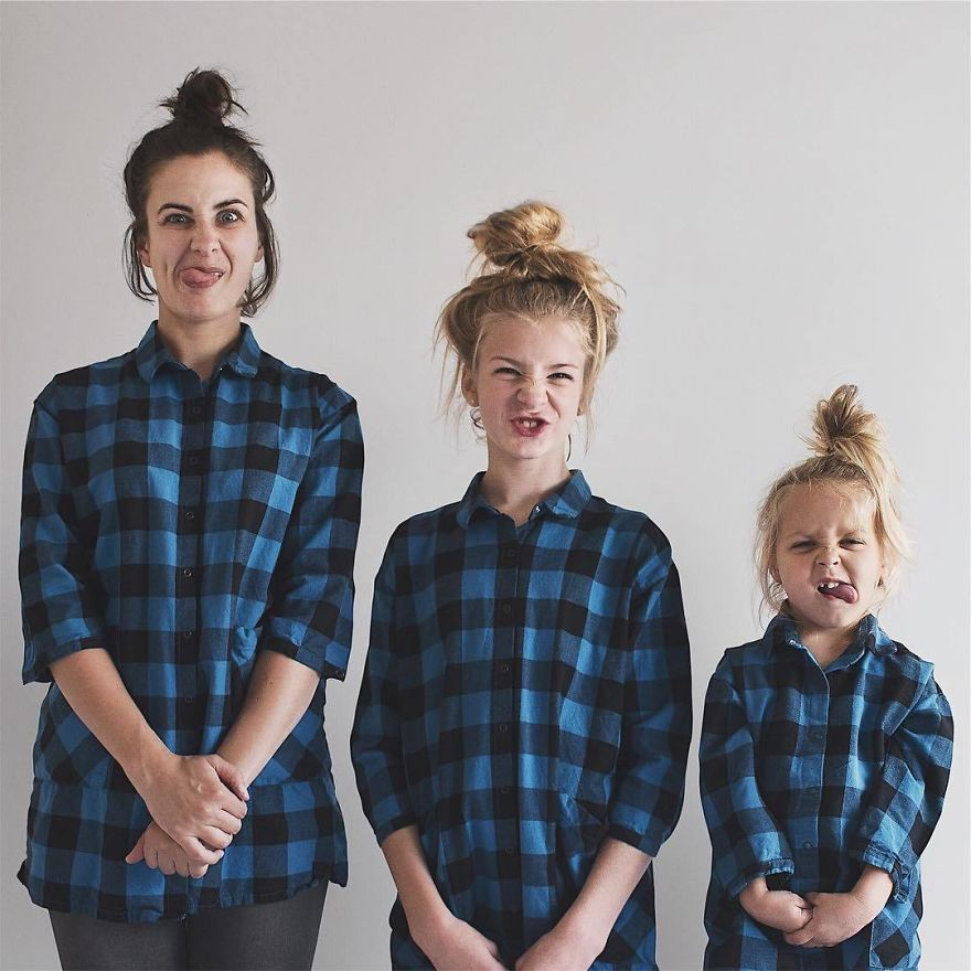 20 bellissime foto di famiglia di una mamma con le sue figlie