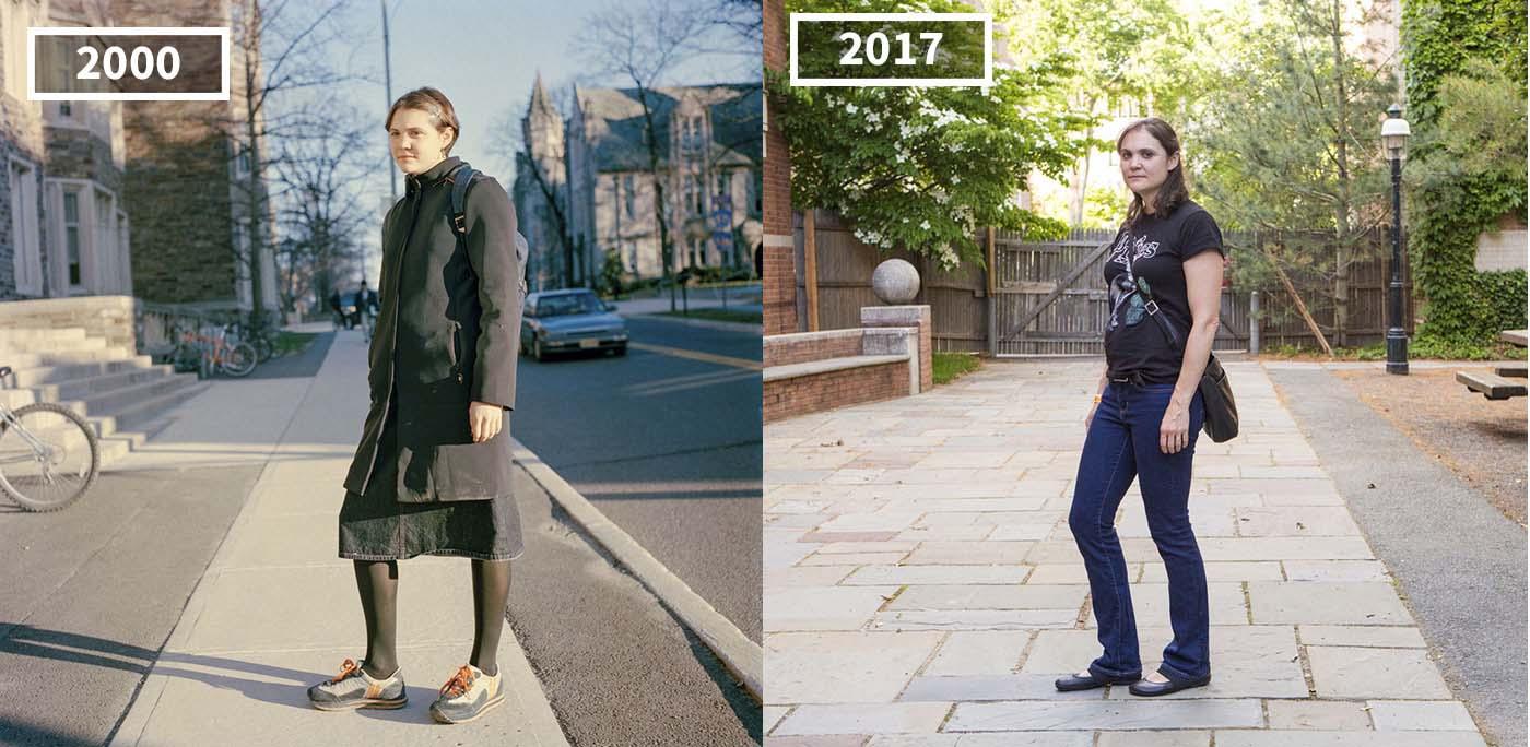 I cambiamenti nei volti di ex studenti universitari