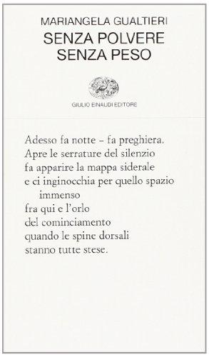 Senza polvere senza peso di Mariangela Gualtieri