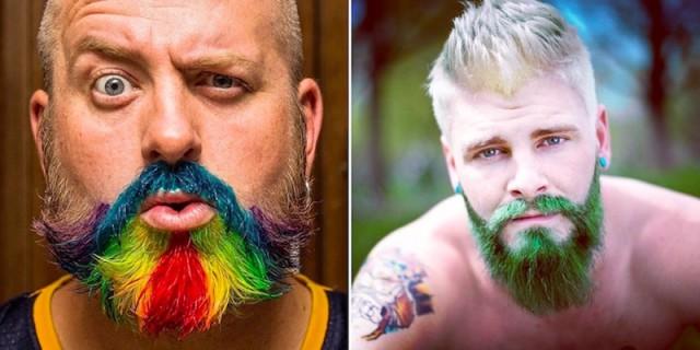 Rainbow Beard: colorare la barba è il nuovo trend - FOTO GALLERY
