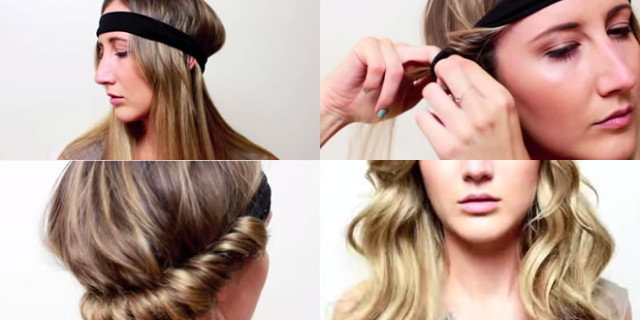 Capelli mossi con una fascia - VIDEO TUTORIAL