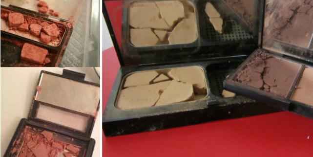 make up compatto rotto