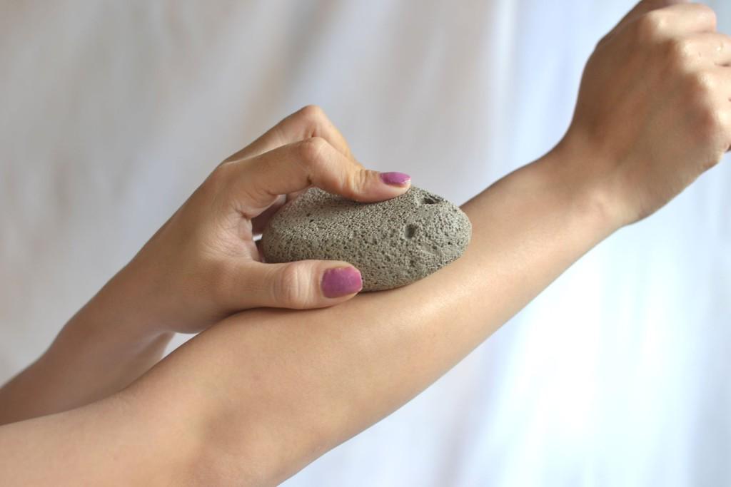 La pietra pomice per la depilazione