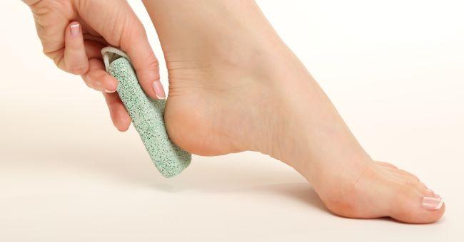 La pietra pomice per i piedi