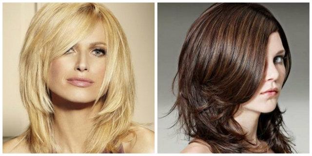 Taglio dei capelli medio corti
