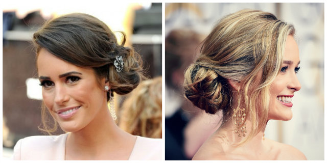 chignon laterale morbido
