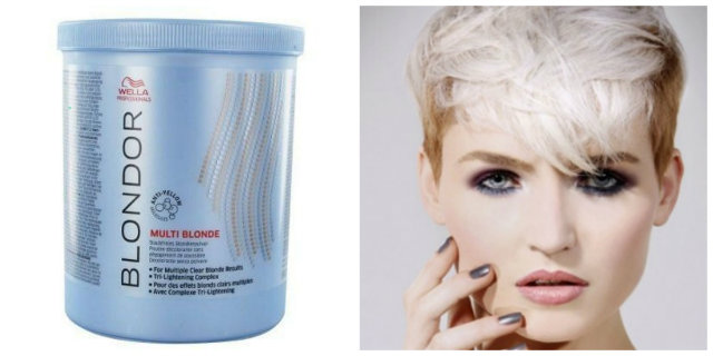 polvere decolorante capelli