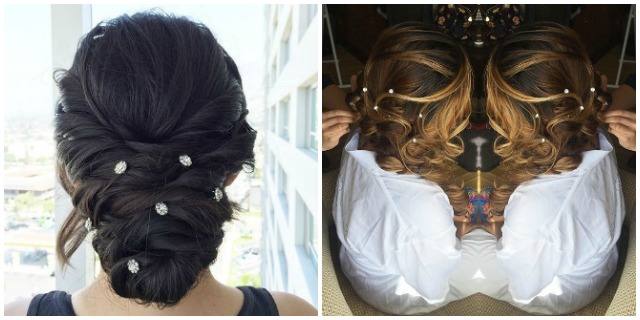 Hair gems matrimoni