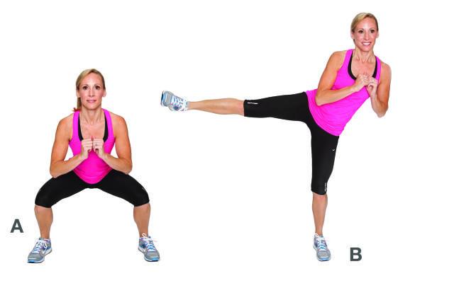 Dimagrire sulle cosce: kick squat