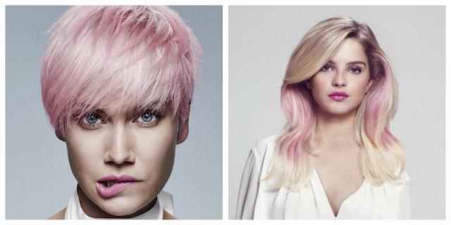 capelli rosa intera chioma o ciocche