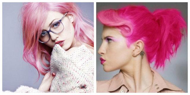 le varie tonalità di rosa