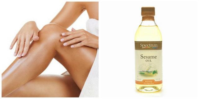olio di sesamo pelle