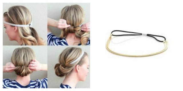 Acconciature capelli con cerchietto elastico