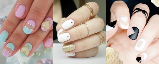 unghie tonde nail art