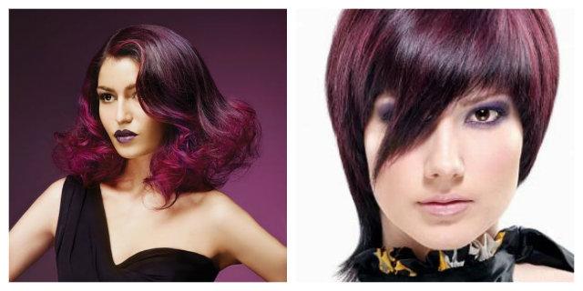 capelli mogano viola