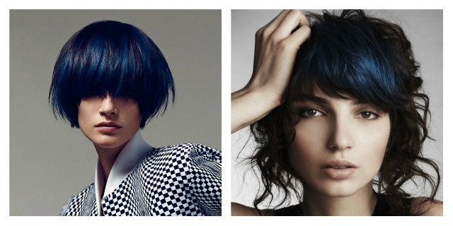 capelli neri con riflessi blu