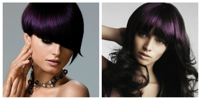 capelli nero viola