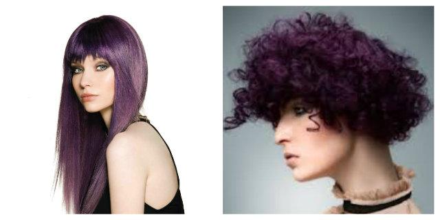 capelli viola prugna
