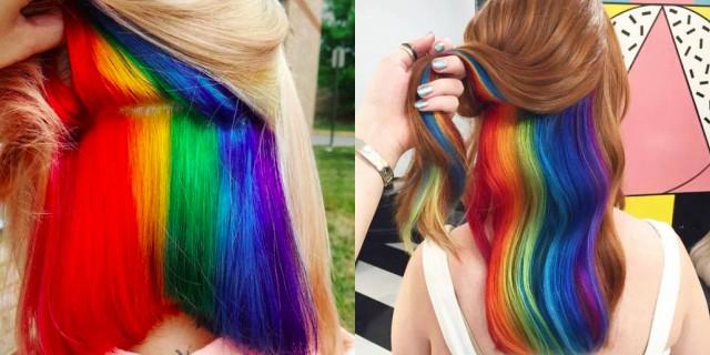 Hiddenrainbow hair: l'arcobaleno nascosto tra i capelli!