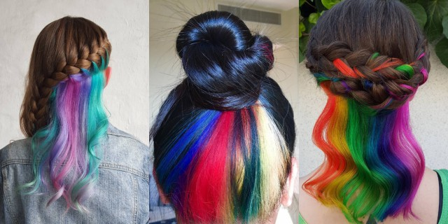 Hiddenrainbow hair: l'arcobaleno nascosto tra i capelli!