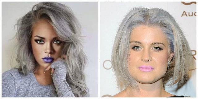 la moda dei capelli grigi