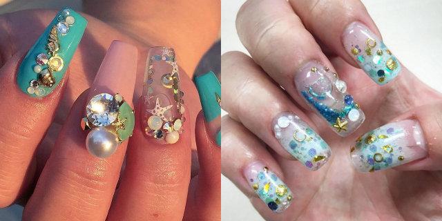 Aquarium Nails: come si realizza il trend dell'acqua nelle unghie
