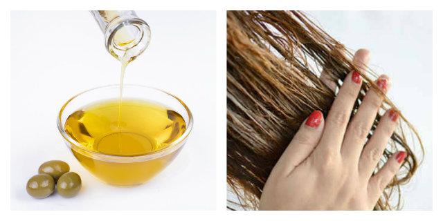 olio di oliva per capelli