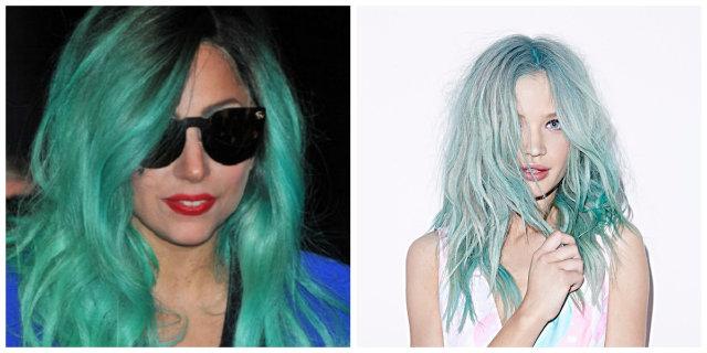 capelli verde acqua