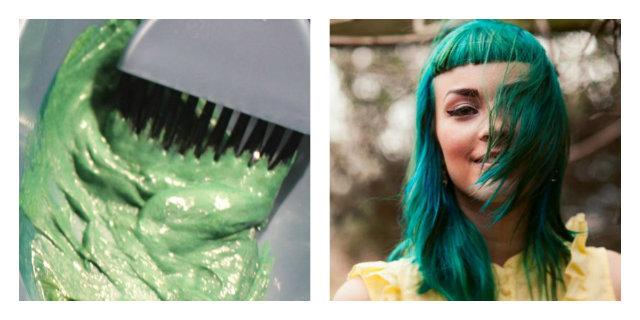 come fare i capelli verdi