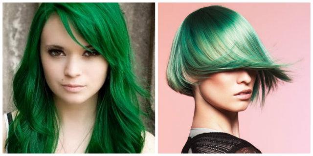 capelli verde smeraldo