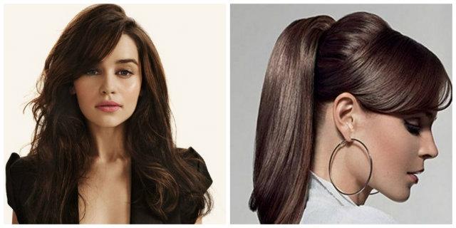 capelli lunghi con ciuffo laterale