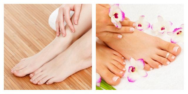 unghie piedi rigate