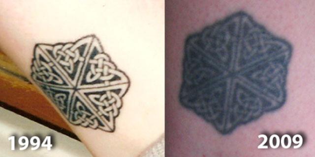 tatuaggio invecchiato