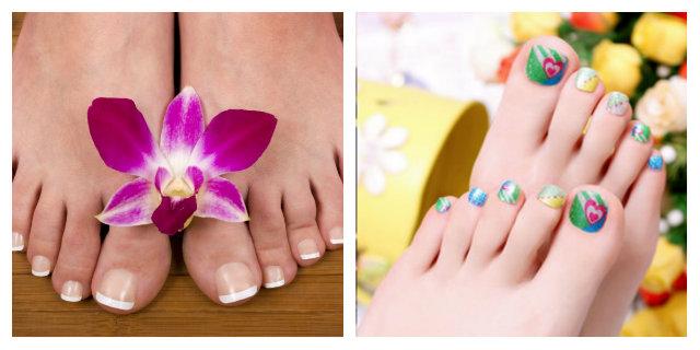 unghie finte piedi