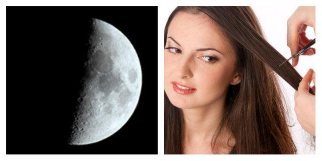 luna crescente fasi lunari capelli