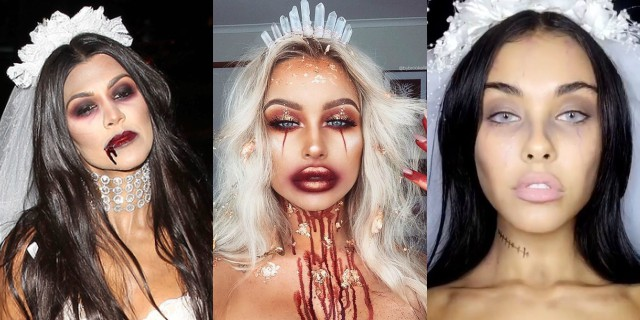 trucco halloween sposa cadavere