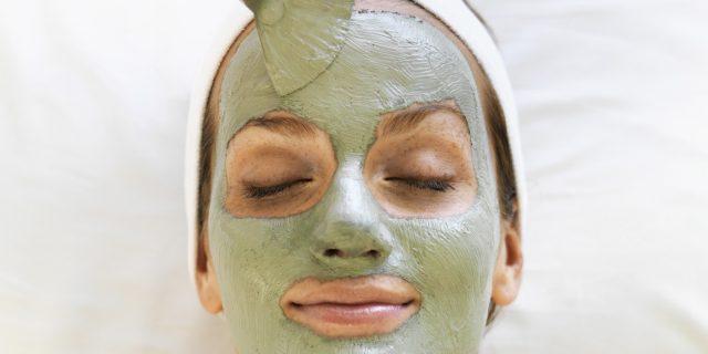 argilla verde maschera