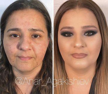 Con e senza trucco: le incredibili trasformazioni di Anar