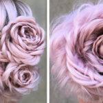 In cerca di chignon originali? Prova il raccolto a forma di rosa