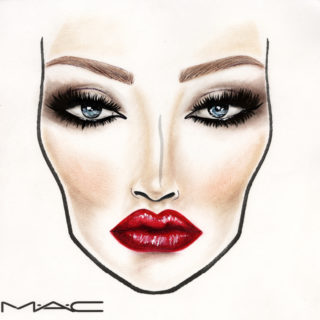 Face chart Mac Cosmetics