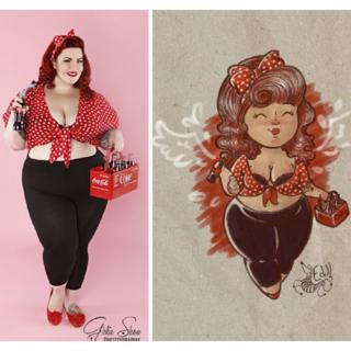 """I disegni di Edull: """"Le ragazze grasse sono ragazze, belle come tutte le altre"""""""