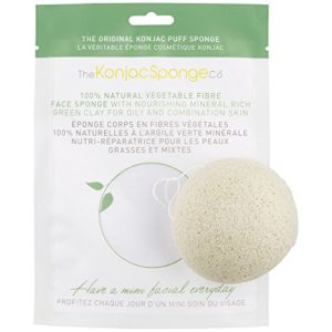 The Konjac Sponge spugna all'argilla verde
