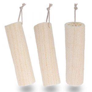 3 Pezzi di Luffa Naturale Spugnetta Abrasiva