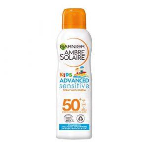 Garnier Ambre Solaire Spray Protettivo Anti-Sabbia IP 50+ Advanced Sensitive Kids