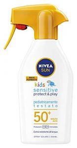 NIVEA SUN Maxi Spray Solare Kids Sensitive Protect & Play FP50+